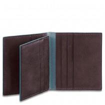 Porta carte di credito Blue Square Mogano