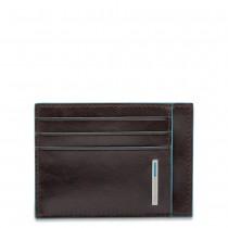 Bustina porta carte di credito RFID BLUE SQUARE Mogano