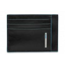 Bustina porta carte di credito RFID BLUE SQUARE NERO