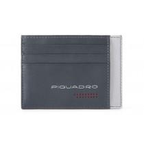 Bustina porta 6 carte di credito tascabile RFID Urban Grigio/Nero
