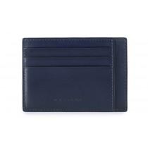 Bustina porta 6 carte di credito tascabile RFID Bold Blu