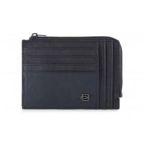 Bustina portamonete documenti 8 card RFID Black Square Blu Notte