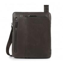 """Borsello porta iPad®Air/Pro 9,7""""/11"""" con doppia tasca frontale Black Square Testa Moro"""