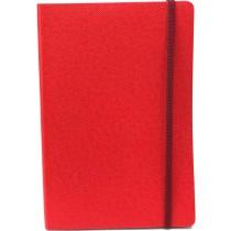 ELASTIC JOURNAL 14,5X21 CHERRY RED