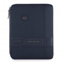 Portablocco sottile formato A5 con scomparto porta iPad® e porta penne Tokyo Blu Notte