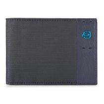 Portafoglio uomo con porta monete e porta 7 carte di credito P16 Chev Blu