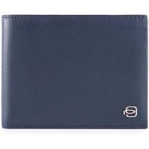 Portafoglio uomo con portamonete linea SPLASH blu/blu