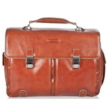 "Cartella Porta PC 15"" 2 Tasche - Blue Square - Arancio"