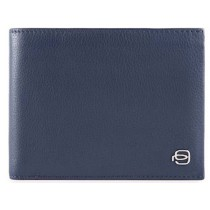 Portafoglio uomo porta 12 carte di credito RFID SPLASH BLU/BLU