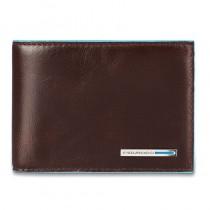 Portafoglio uomo con 8 porta carte di credito collezione Blue Square mogano
