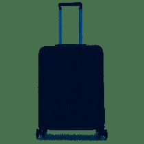 Trolley cabina rigido ultra slim lucchettoTSA SEEKER BLU